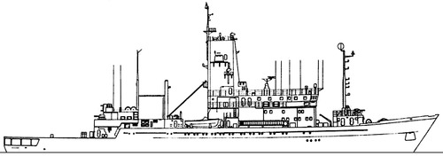 USSR Project 1022.1 Kamchatka class Submarine-Search Ship
