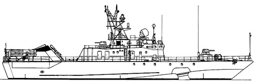 USSR Project 1141 Sokol Babochka -class Small Anti-Submarine Ship After modernization
