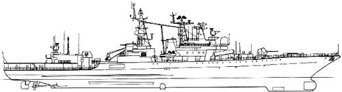 USSR Project 1155.1 Fregat Udaloy II Admiral Chabanenko-class Large Anti-Submarine Ship 1