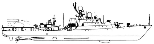 USSR Project 1166.0 Gepard Class Small Anti-Submarine Ship