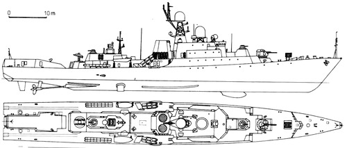 USSR Project 1166.0 Gepard Class Small Anti-Submarine Ship 1