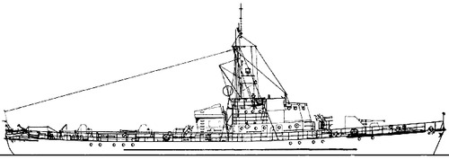 USSR Project 122bis S1 Kronshtadt -class Submarine Chaser