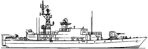 USSR Project 1241.2 Molniya 2 Pauk-class MPK-60 Small Anti-Submarine Ship