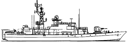 USSR Project 1241.2 Molniya 2 Pauk-class MPK-72 Small Anti-Submarine Ship