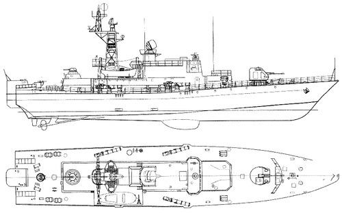 USSR Project 1241.2 Molniya 2 Pauk-class Small Anti-Submarine Ship