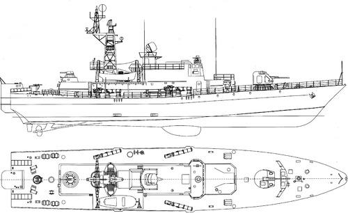 USSR Project 1241P Molniya 2 Pauk-class Small Anti-Submarine Ship