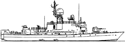 USSR Project 1241PE Molniya 3 Modified Pauk-class MPK-72 Small Anti-Submarine Ship