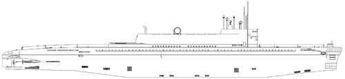 USSR Project 601 K-118 Golf III-class SSB Submarine