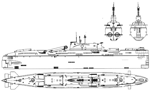 USSR Project 651 Juliett-class SSG Submarine
