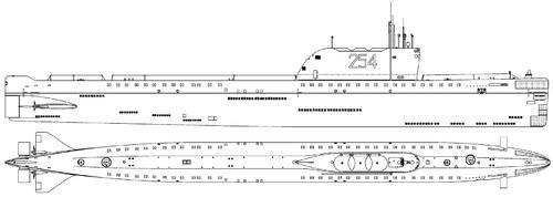 USSR Project 658 Hotel I-class Submarine