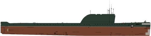 USSR Project 658M Hotel II-class Submarine