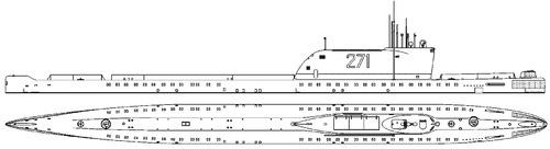 USSR Project 658M K-19 1969 [Hotel II-class SSB Submarine]