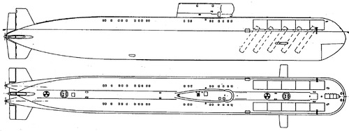 USSR Project 661 Anchar K-222 [Papa-class SSGN Submarine]