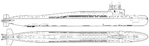 USSR Project 667BDR Kalmar Delta III Class SSBN Submarine