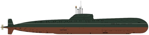 USSR Project 670M Chayka Charlie II-class Submarine
