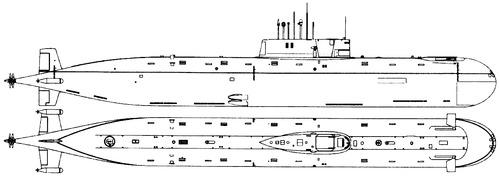 USSR Project 685 Plavnik K-278 Komsomolets (Mike class Submarine)