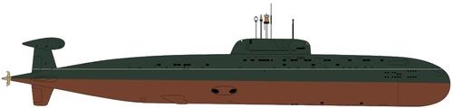 USSR Project 945 Barrakuda Sierra I-class Submarine