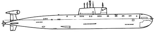 USSR Project 945A Barrakuda K-239 Sierra I-class Submarine