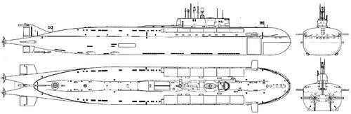 USSR Project 949A Antey Oscar II-class Submarine
