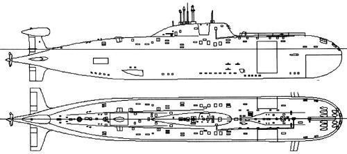 USSR Project 971 Bars Akula-class Submarine