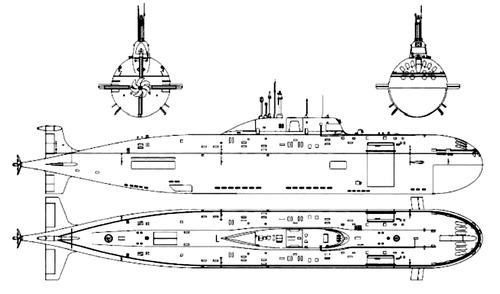 USSR Project 971M Akula III [Gepard K-335 Submarine]