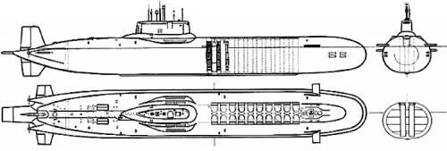 USSR SSGN 941 Typhoon class
