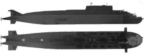 USSR SSGN Oscar II Class Kursk K-141