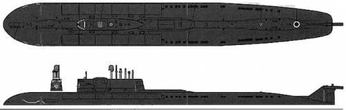 USSR SSGN Tomsk (Oscar II Class)