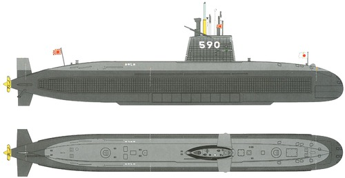 JMSDF Oyashio SS-590 [Submarine]