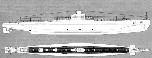 RN Ammiraglio Cagni 1940 (Submarine)