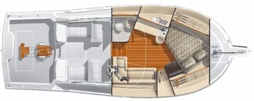 Cabo 32 Interior Layout B