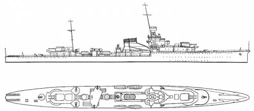 Yubari Japanese Light Cruiser (1943)