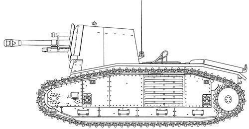 10.5 cm leFH 18-3 auf Geschutzwagen B-2 (f)
