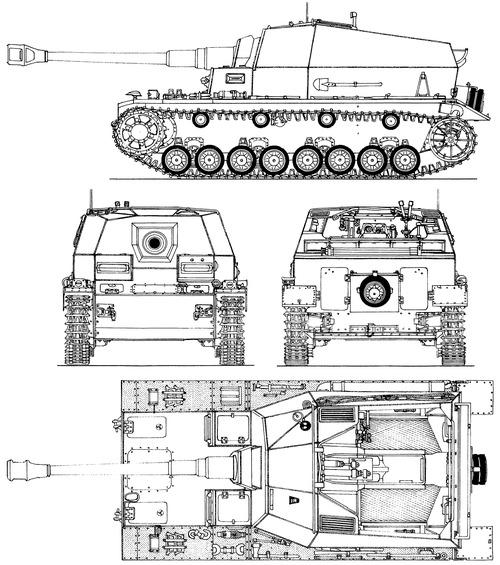10.5cm K18 auf Panzer Selbstfahrlafette IVa Dicker Max