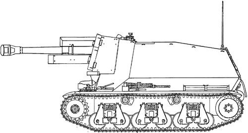 10.5cm le.F.H.184 (SF) auf Geschutzwagen 38H (f)