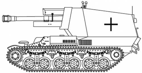 10.5cm le FH18(Sf) auf Geschutzwagen LOrS Lorraine