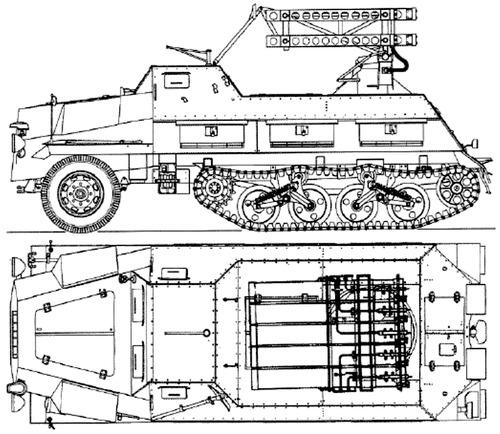 15 cm Panzerwerfer 42 auf Sf