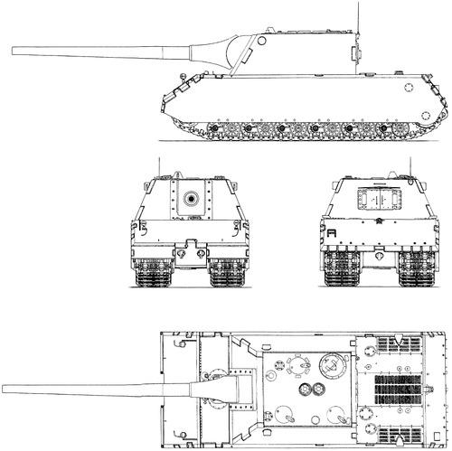 15cm Sturmgeschutz L-63 auf Mausfahrzeug Porsche
