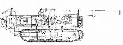 194mm St. Chamond SP Gun WWI