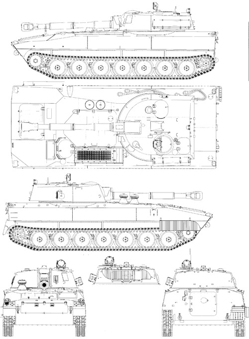 2S1 Gvozdika M1974 122mm SPG