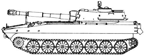 2S1 M- Gvozdika 122mm SPG (1974)