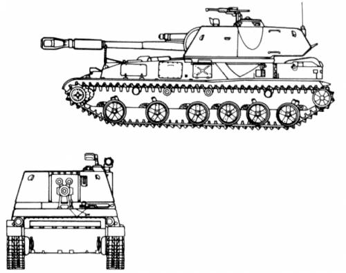 2S3 152mm SPG M1973
