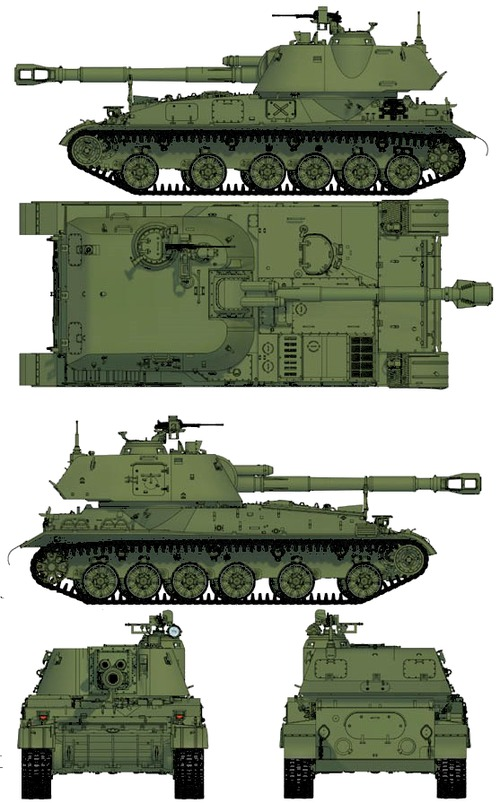 2S3 M1973 152mm SPG