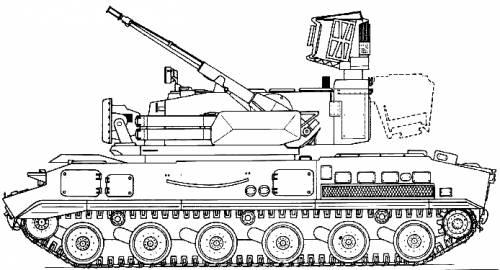 2S6 Tunguska 30-mm SPAAG