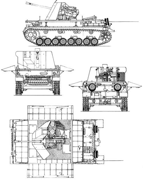 3.7cm Flakvierling auf Fahrgestell Flakpanzer IV Mobelwagen