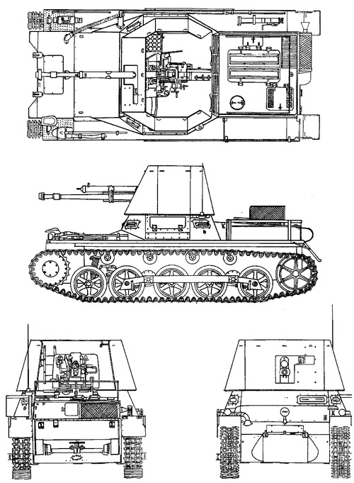 Blueprints Gt Tanks Gt Tanks 1 9 Gt 4 7cm Pak1 Stl Pz Kpfw