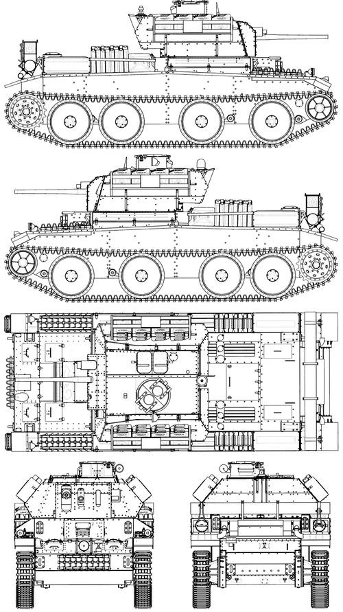 A13 Mk.II Cruiser Tank Mark IV (Kreuzer Panzerkampfwagen Mk.IV 744(e))