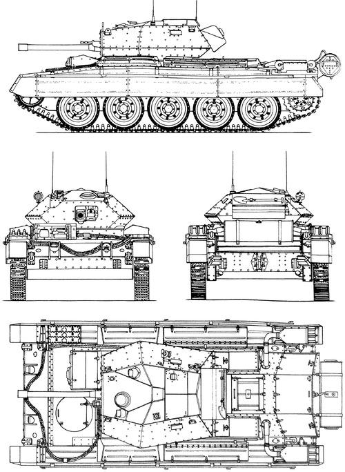 A15 Crusader Mk.III Cruiser tank Mk.VI 6pdr