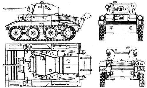 A17 Tetrarch MK.i Vickers Light Tank Mk VII