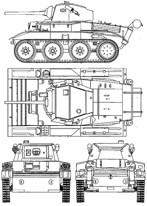 A17 Tetrarch Vickers Light Tank Mk VII